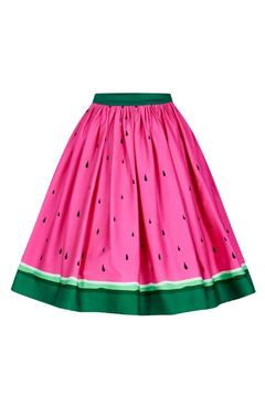 Collectif Watermelon Skater Skirt - Product List Image