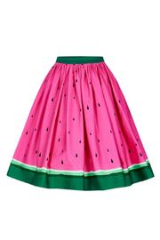 Collectif Watermelon Skater Skirt - Product Mini Image