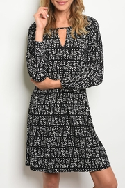 Collective Concepts Keyhole Print Dress - Product Mini Image