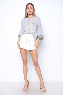 Collective Rack 3/4 Bell Sleeve Blouse - Product List Image