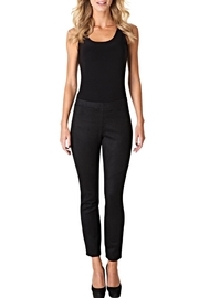 Colletta Black Suede Pants - Front cropped