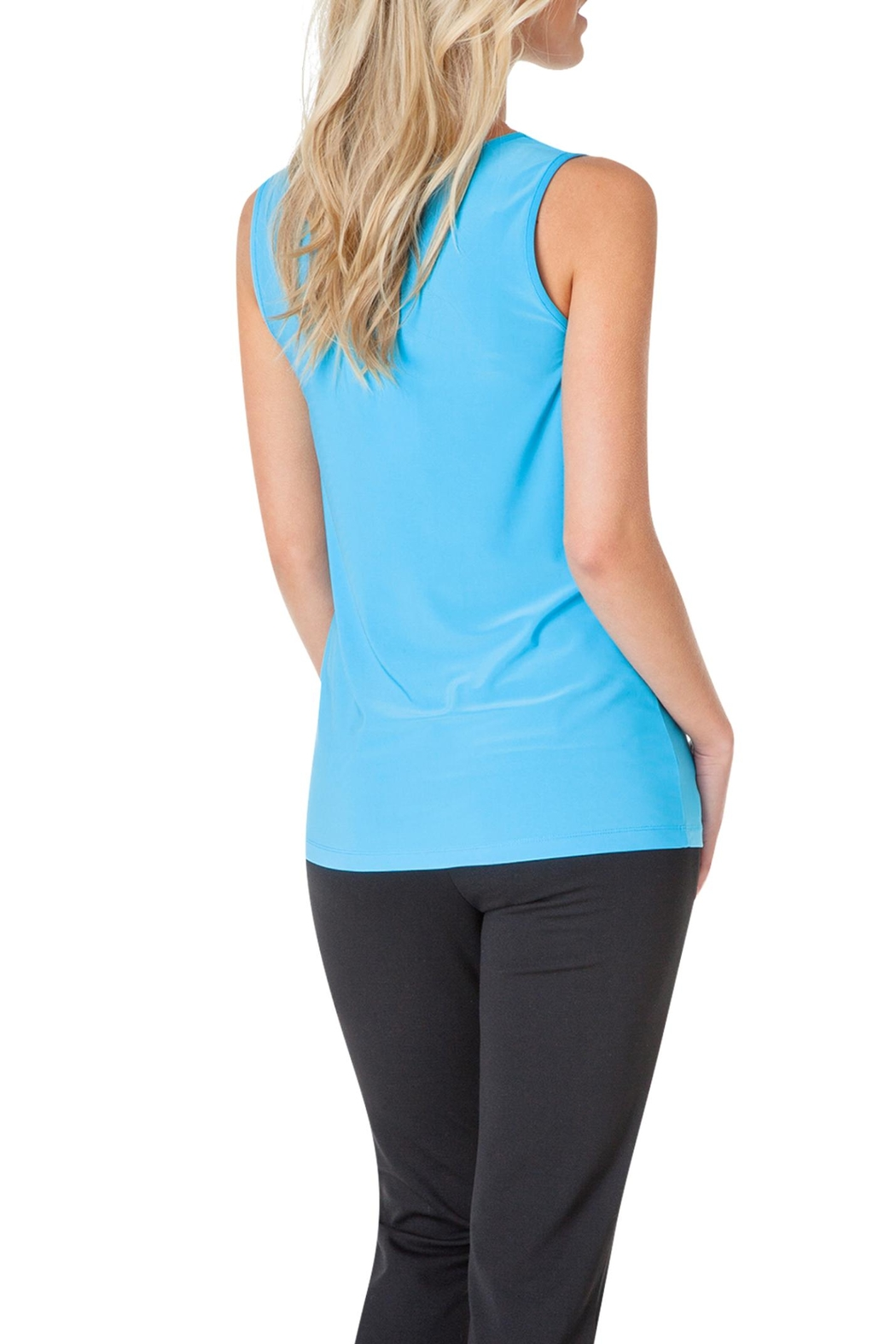 Colletta Blue Sleeveless Top - Front Full Image