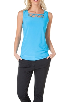 Shoptiques Product: Blue Sleeveless Top