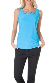 Colletta Blue Sleeveless Top - Product Mini Image