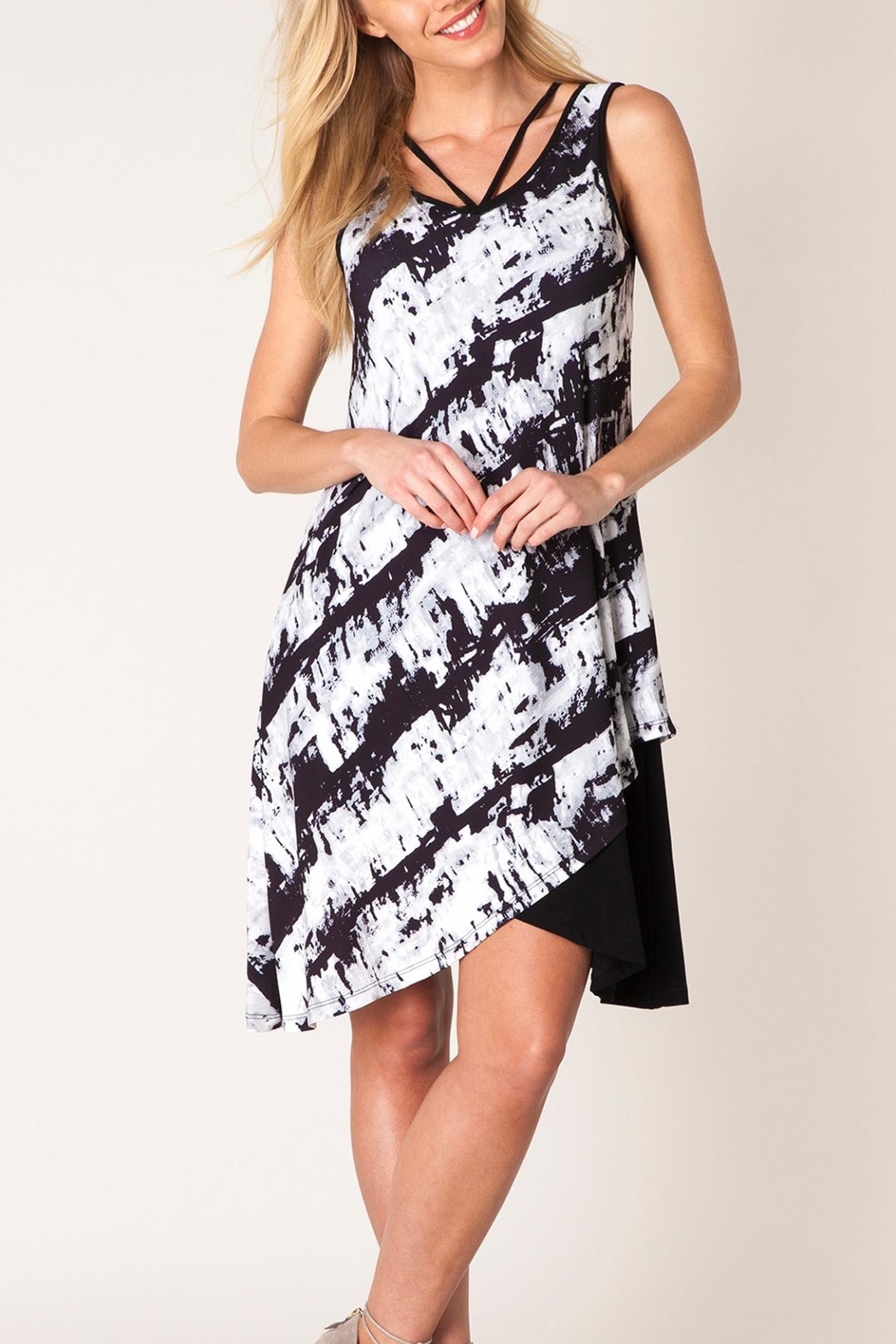 Colletta Crisscross Tiedye Dress - Front Cropped Image