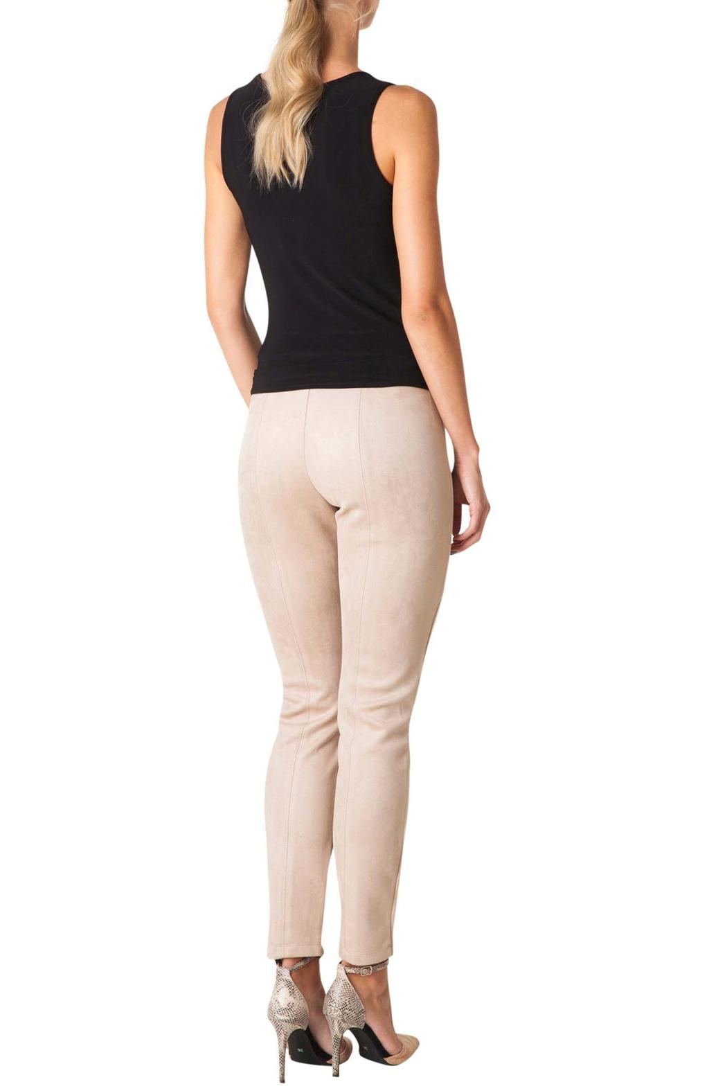 Colletta Faux Suede Pants - Front Full Image