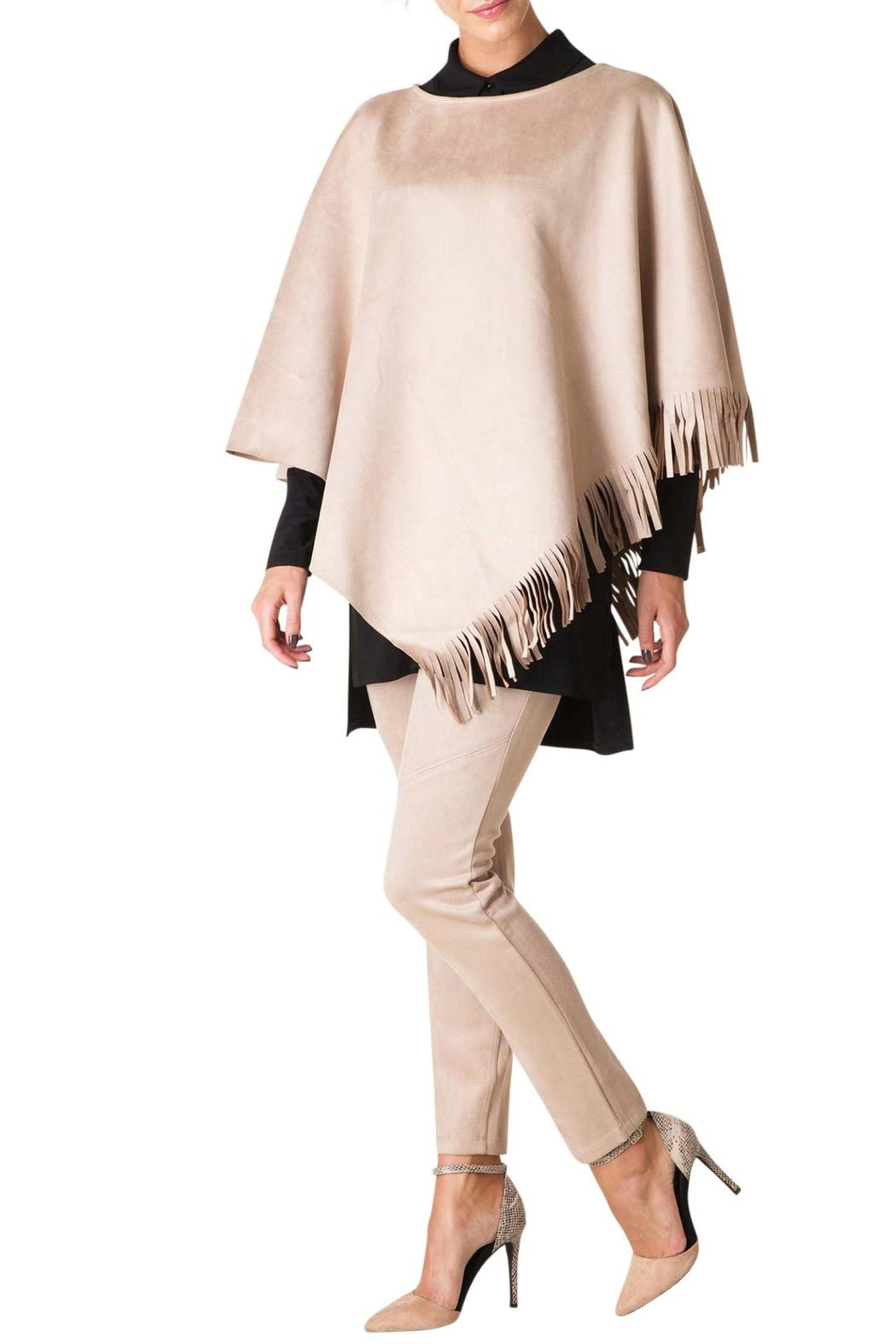 Colletta Faux Suede Poncho - Main Image