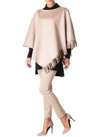 Colletta Faux Suede Poncho - Front cropped