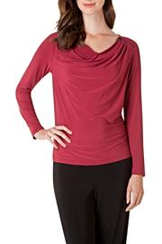 Colletta Merlot Zip Blouse - Product Mini Image