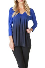 Colletta Ombre Blue Top - Front cropped