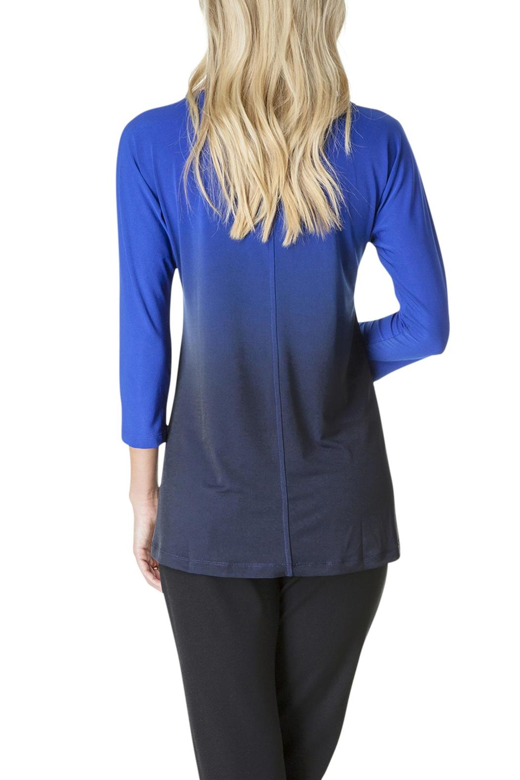 Colletta Ombre Blue Top - Front Full Image