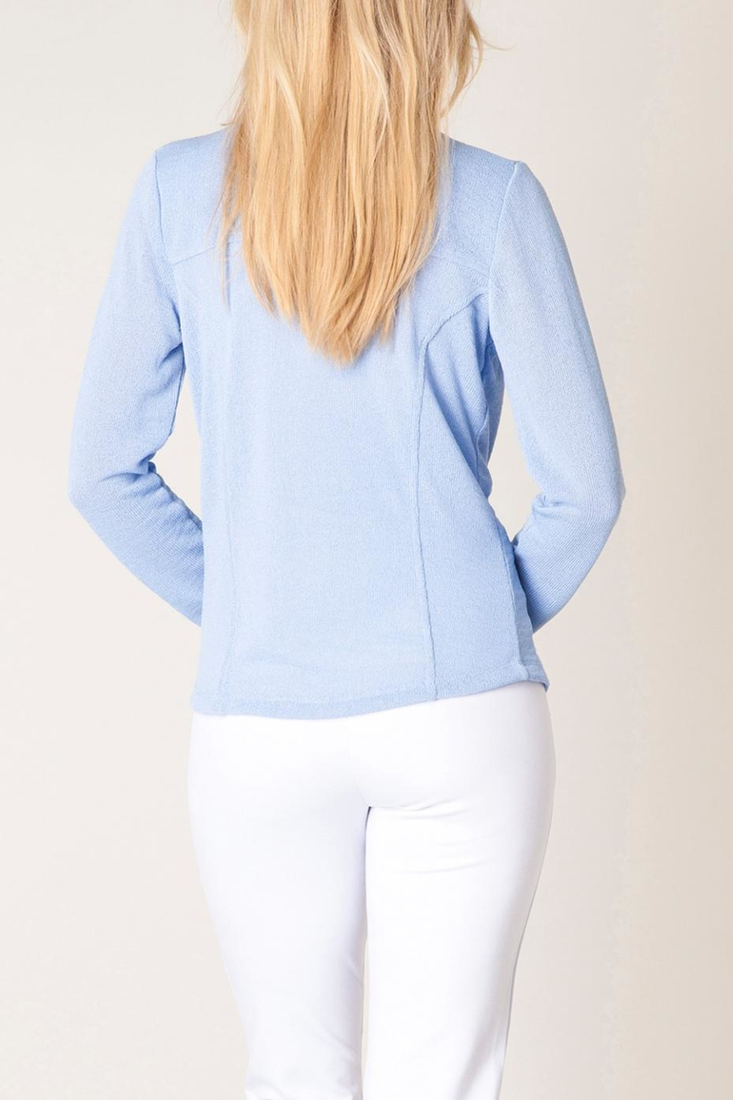 Colletta Pastel Blue Sweater - Front Full Image