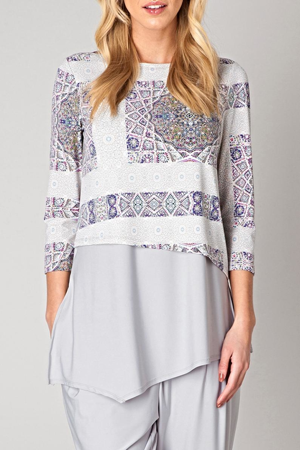 Colletta Pattern Tunic Blouse - Main Image