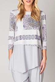 Colletta Pattern Tunic Blouse - Front cropped
