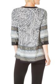 Ivy Beau Pattern Zip Top - Front full body