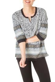 Ivy Beau Pattern Zip Top - Front cropped