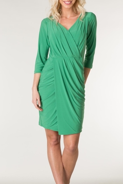 Colletta Rouched Silken Dress - Product List Image