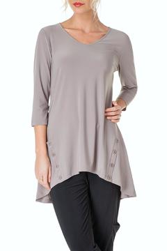 Colletta Silky Taupe Tunic - Product List Image