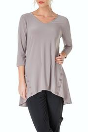 Colletta Silky Taupe Tunic - Product Mini Image