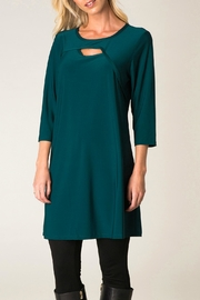Colletta Teal Tunic - Front cropped