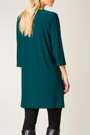 Colletta Teal Tunic - Front full body