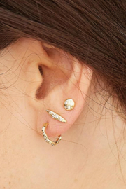Gorjana Collette Circle Studs - Side cropped
