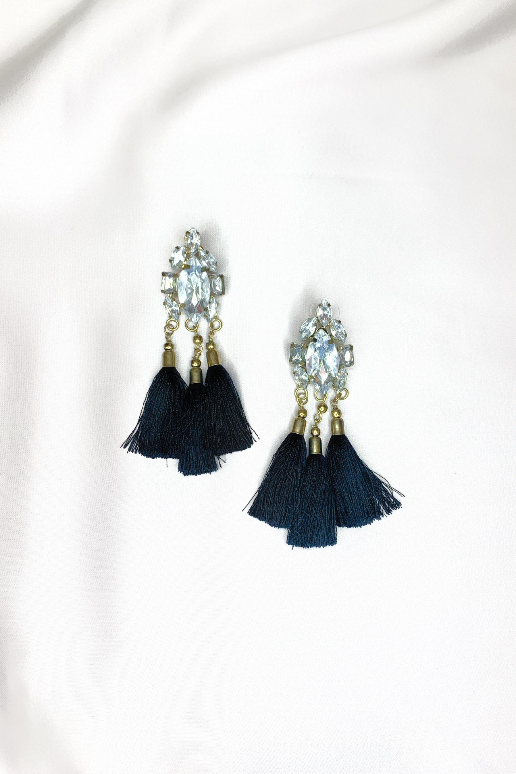 Shiraleah Collette Crystal Tassel Earring - Front Cropped Image