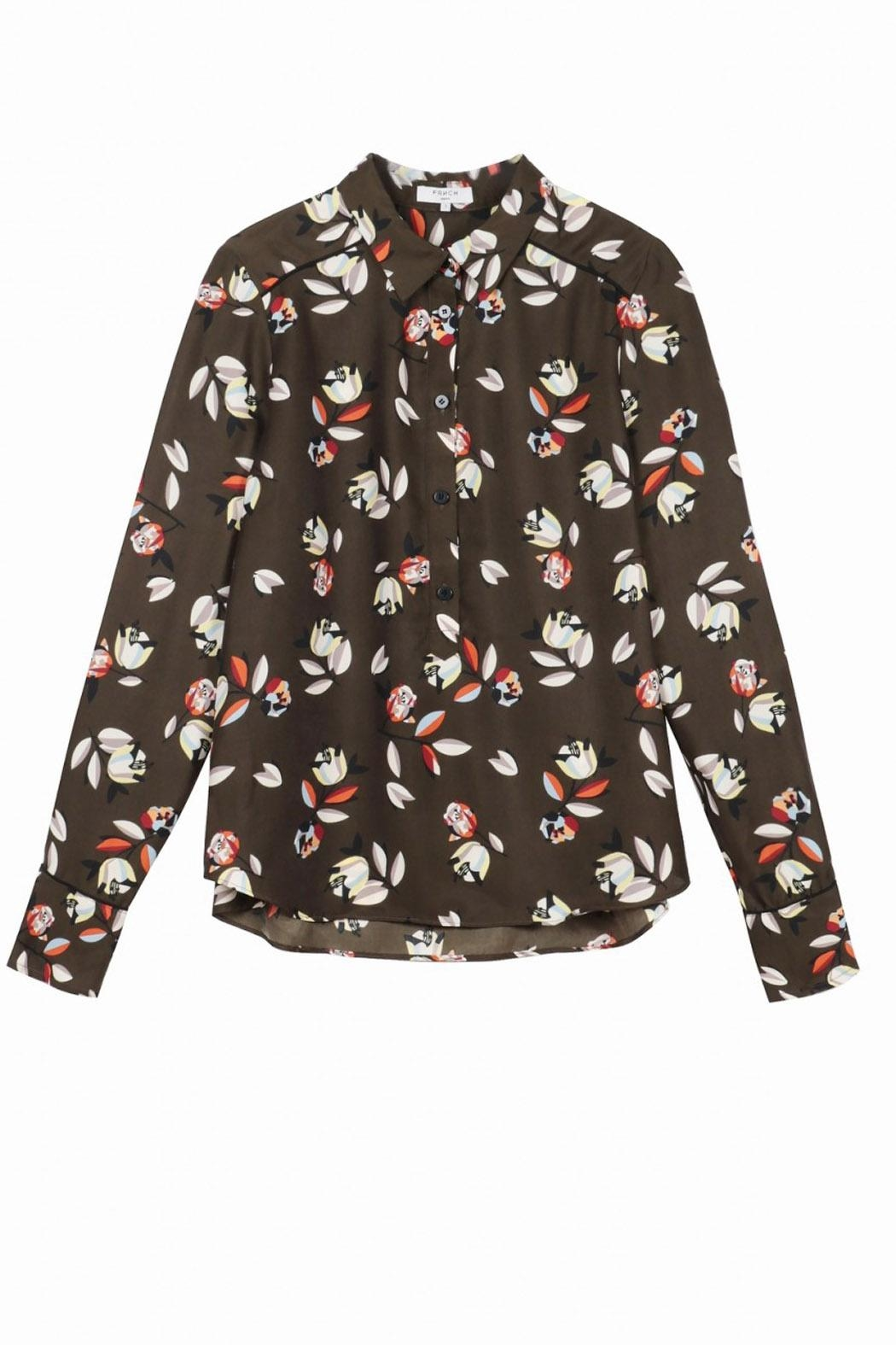 FRNCH Collin Printed Blouse - Side Cropped Image