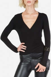Michael Lauren Collins Faux-Wrap Top - Product Mini Image