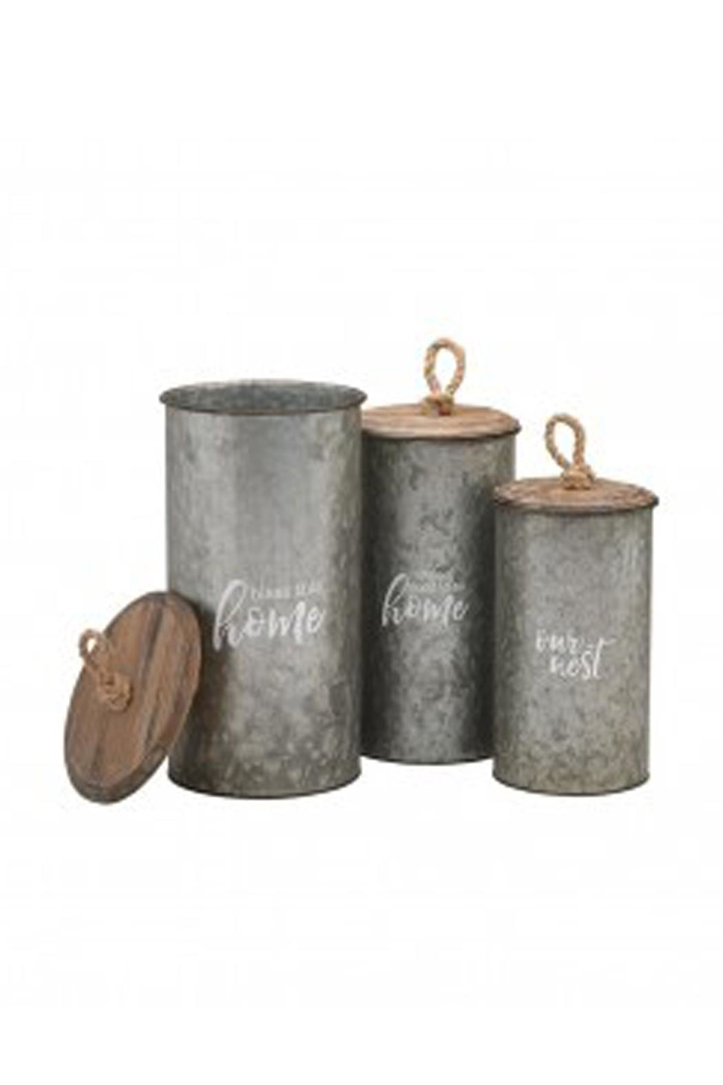 Collins Paintings Galvanized Canister Set - Main Image