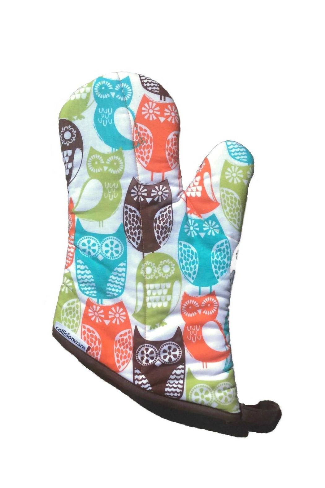 Collisionware Owl Oven Mitten - Front Cropped Image