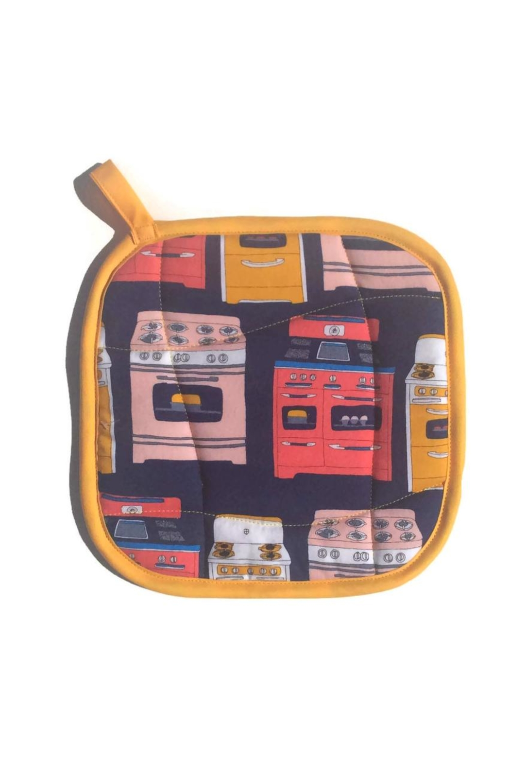 Collisionware Retro Oven Potholder - Front Cropped Image