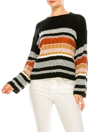 hers and mine Coloful Stripe Sweater - Product Mini Image