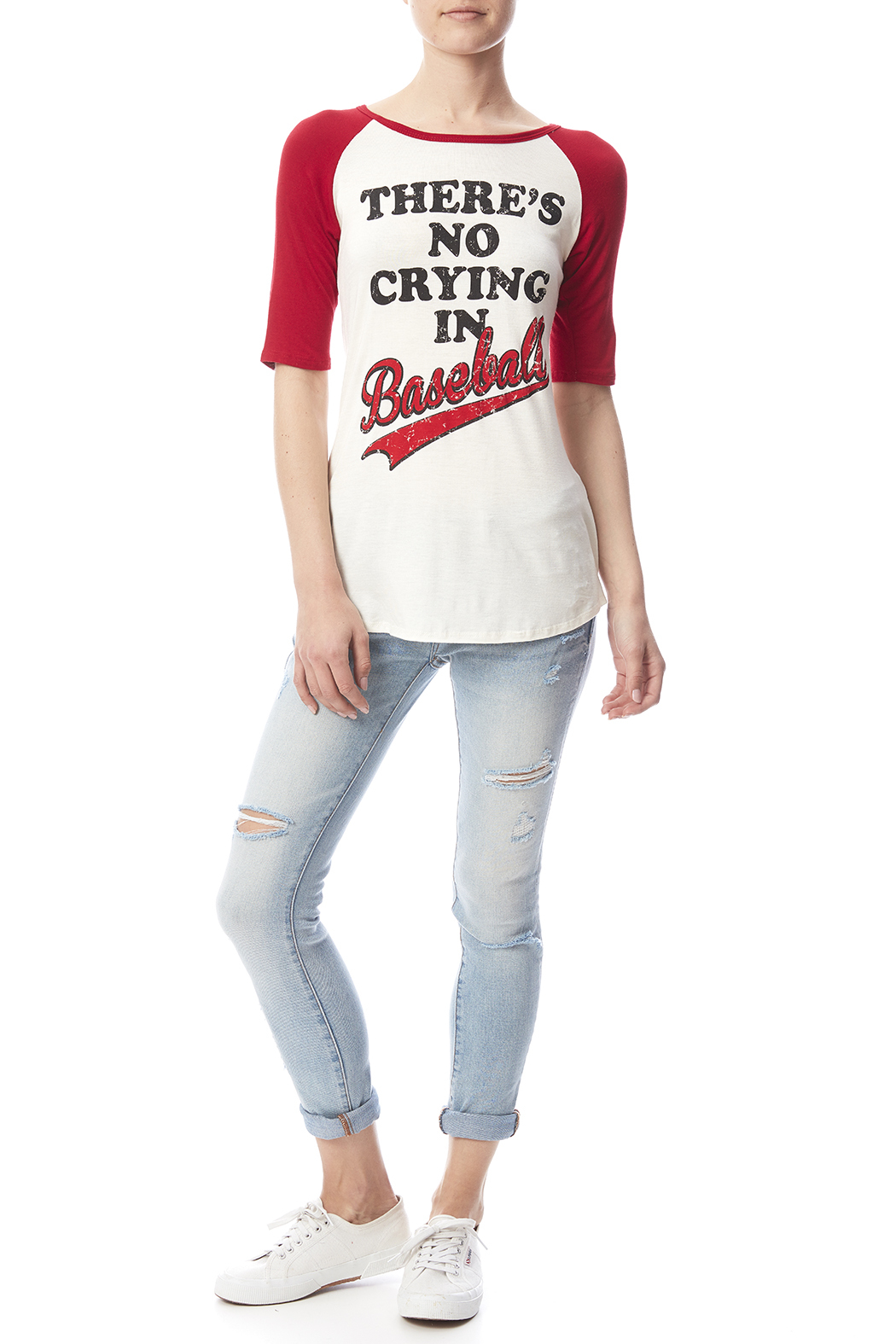 Color Bear Baseball Crying Tee - Front Full Image