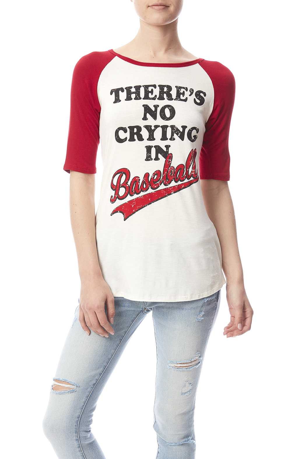 Color Bear Baseball Crying Tee - Front Cropped Image