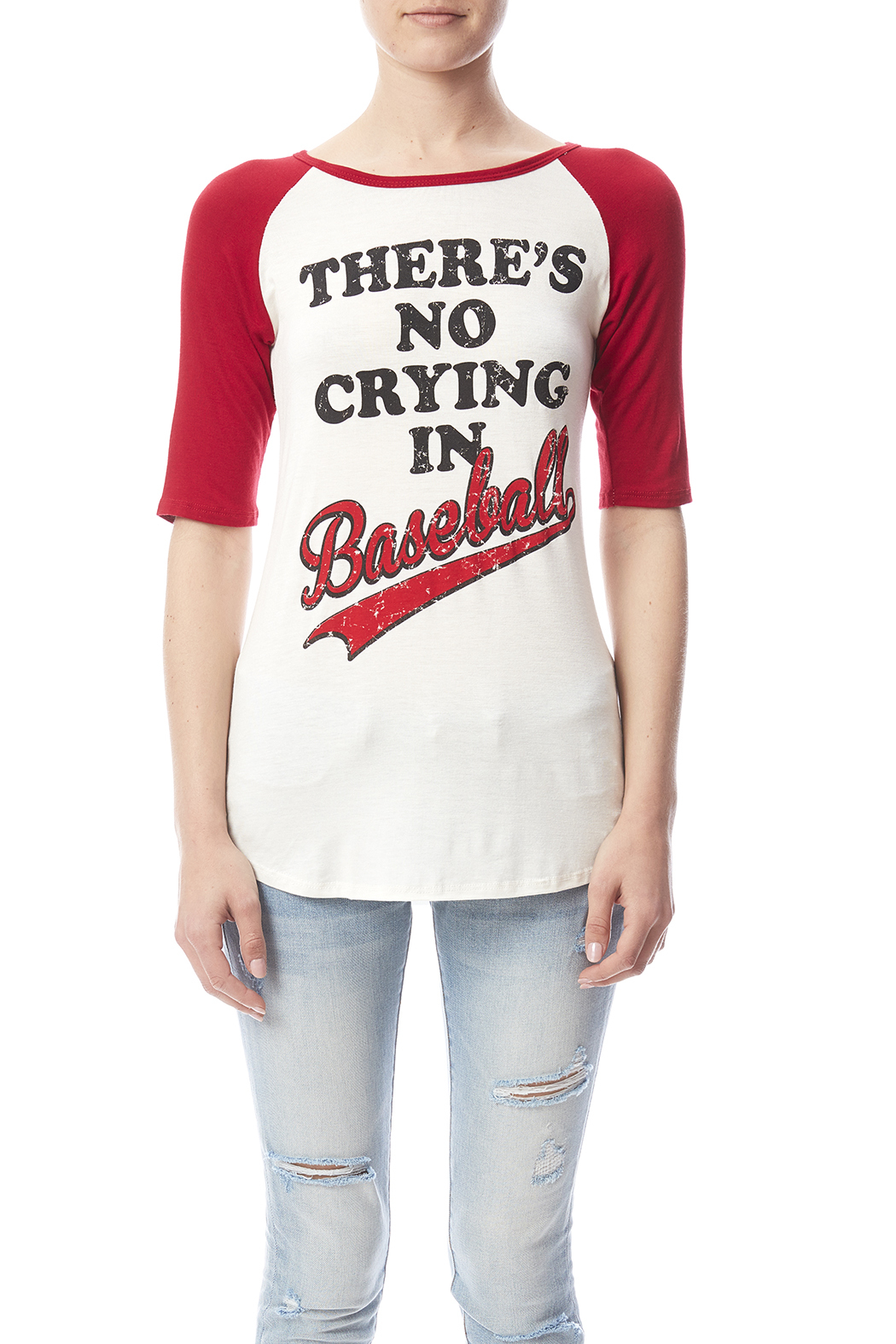 Color Bear Baseball Crying Tee - Side Cropped Image