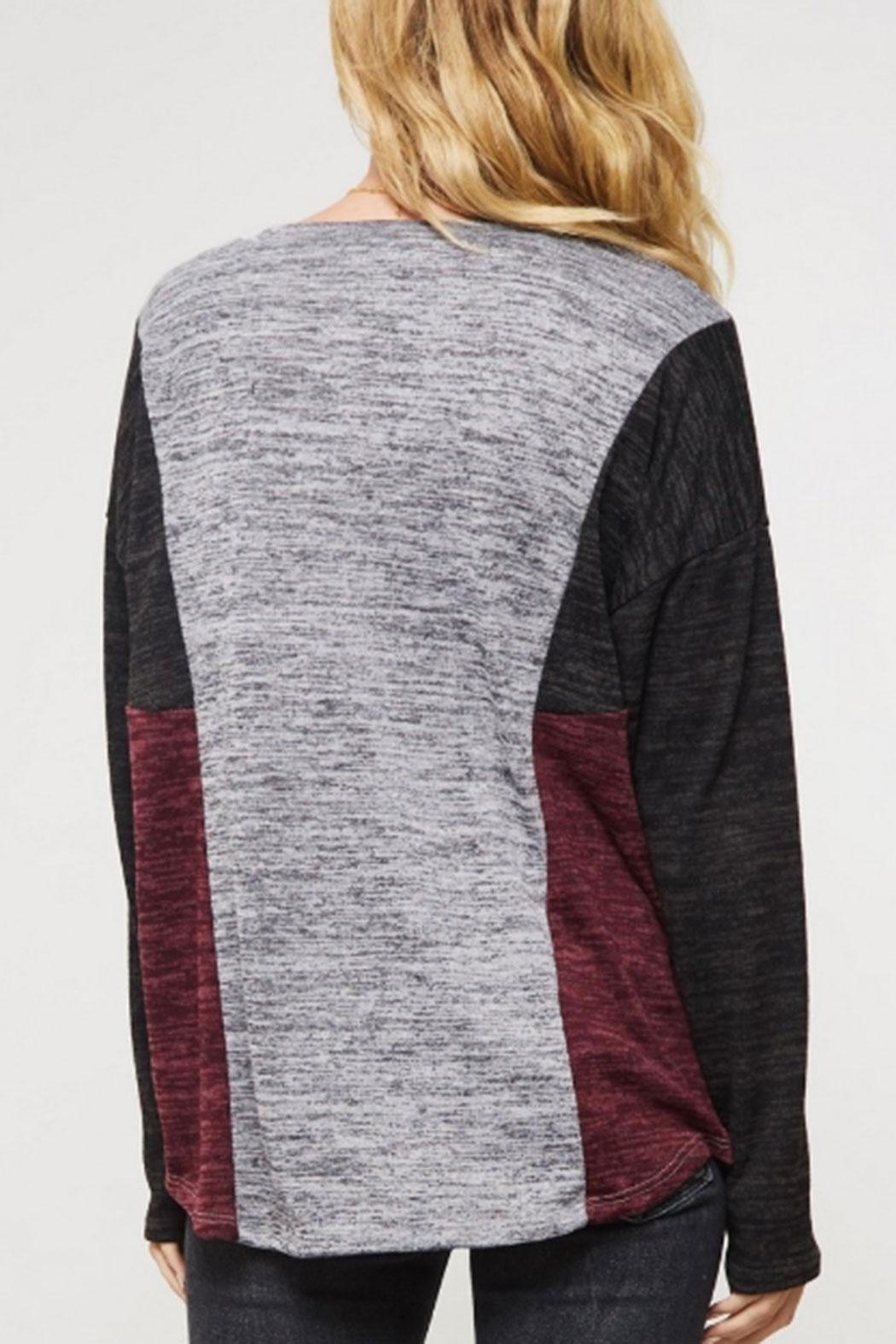 Promesa USA Color-Block Brushed Top - Side Cropped Image