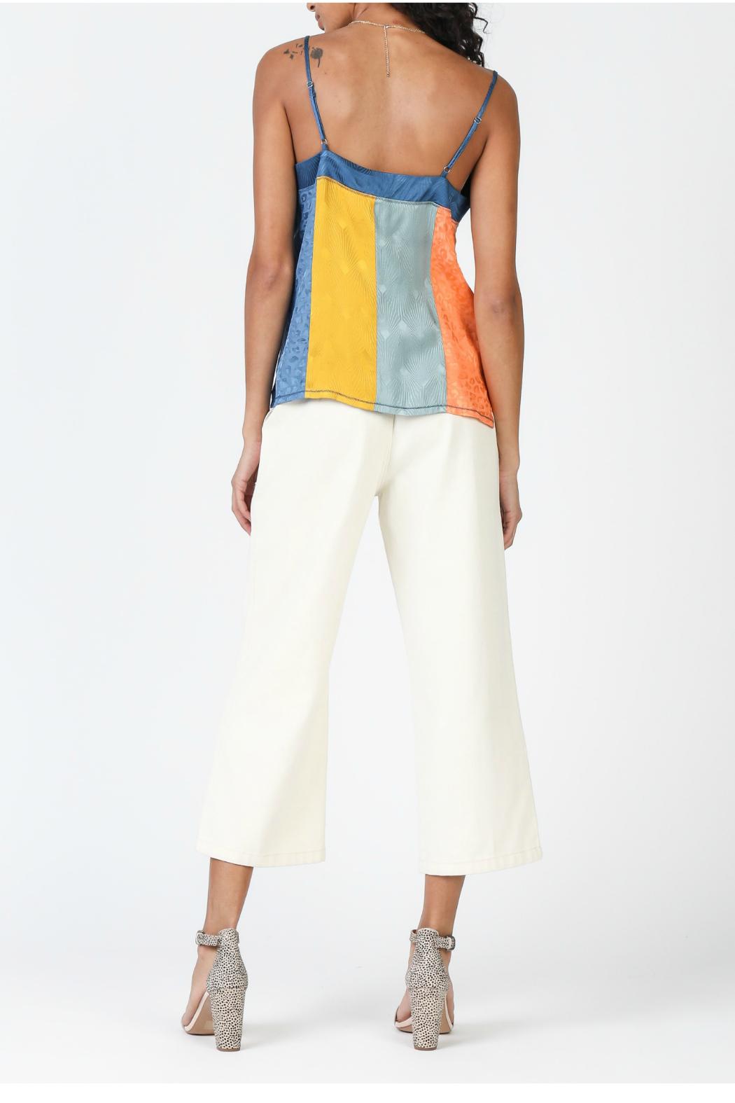Current Air Color Block Cami Top - Front Full Image
