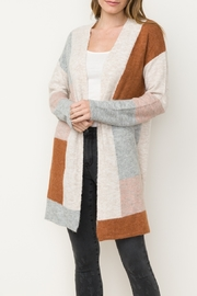 Mystree Color Block Cardi - Product Mini Image