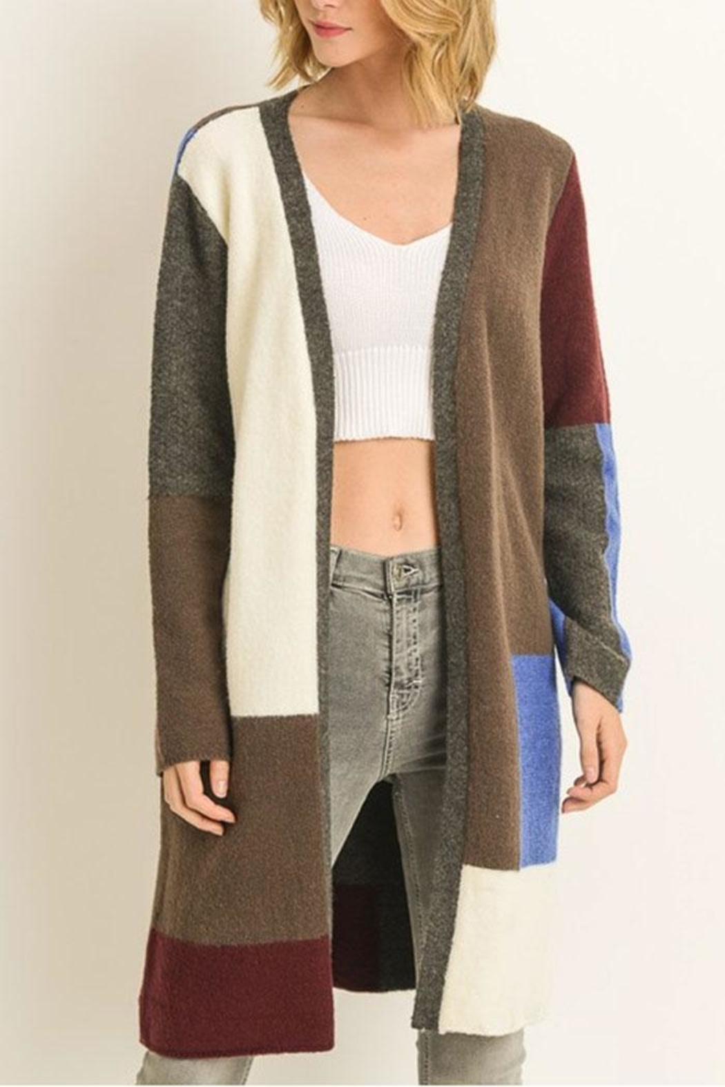 Le Lis Color-Block Cardigan from New York by Runway   Rose — Shoptiques cc3525c8f
