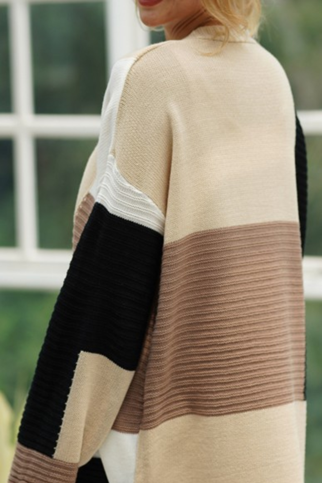 lily clothing Color Block Cardigan - Side Cropped Image