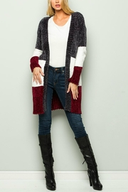 CY Fashion Color Block Cardigan - Product Mini Image