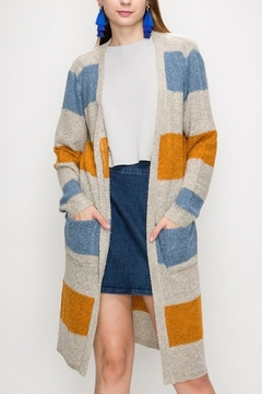 Favlux Color Block Cardigan - Product List Image