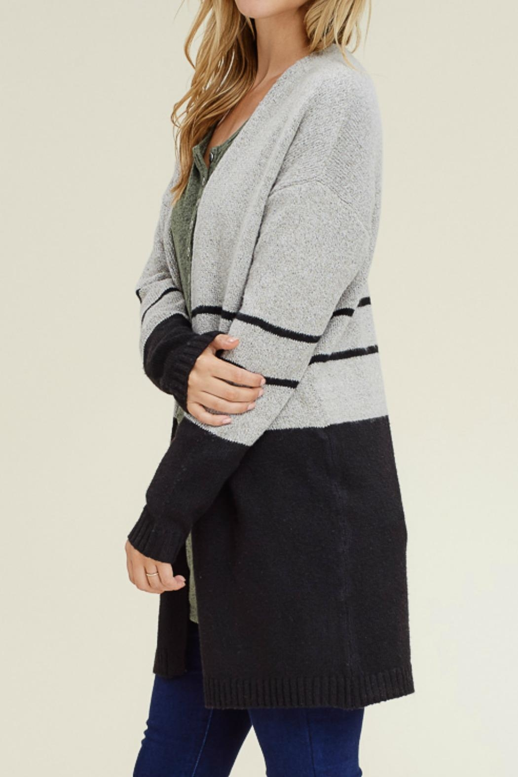 Staccato Color Block Cardigan - Front Full Image