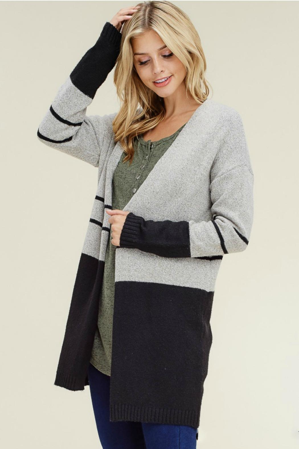 Staccato Color Block Cardigan - Main Image