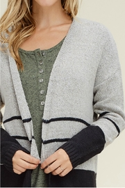 Staccato Color Block Cardigan - Back cropped