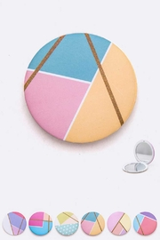 Lyn -Maree's Color Block Compact Mirror - Front cropped