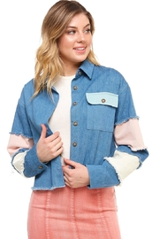 Wild Honey Color-Block Denim Jacket - Product Mini Image