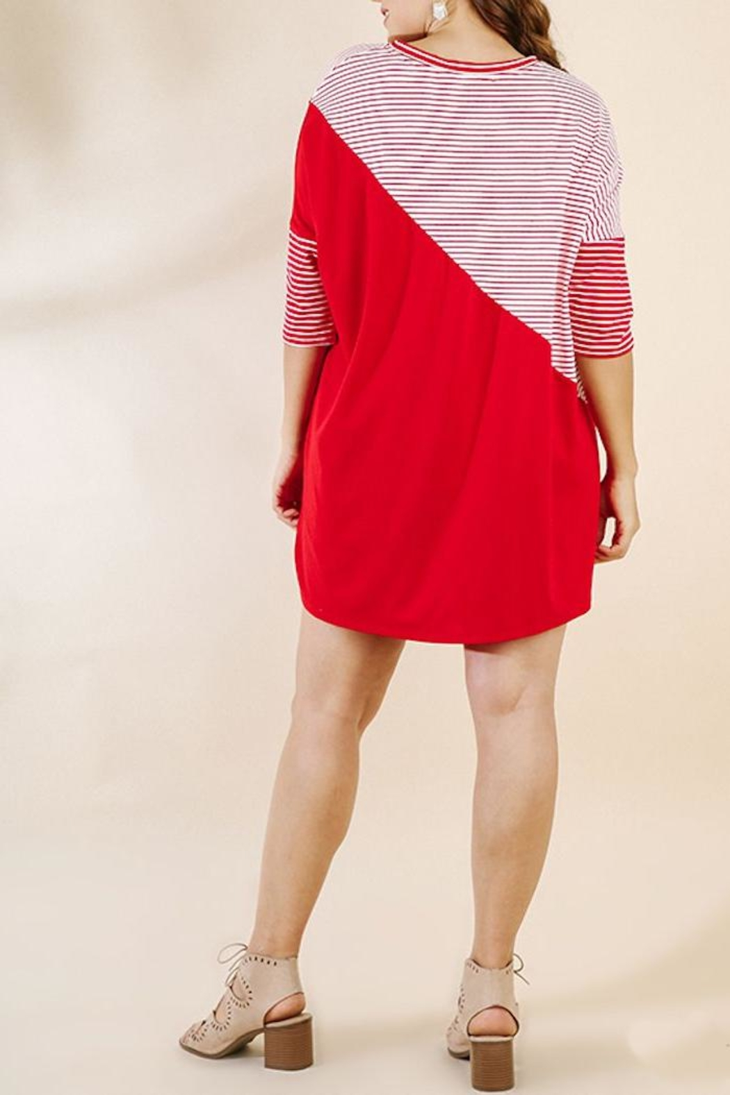 UMG PLUS Color Block Dress - Side Cropped Image
