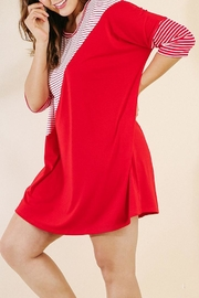 UMG PLUS Color Block Dress - Front full body